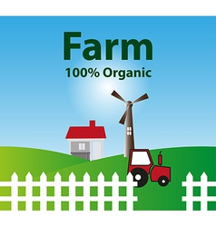 Organic farm background vector