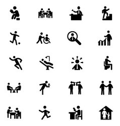 People Icons 4 vector