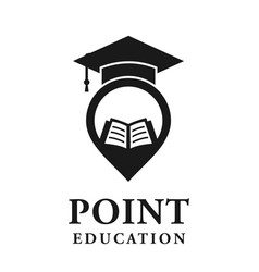 point education logo vector image