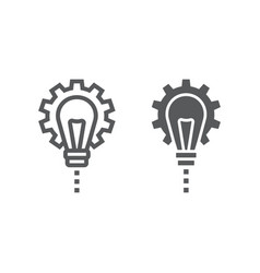 product development line and glyph icon vector image