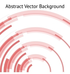 red abstract arch vector image