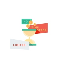 Sale Badge Time Offer Limited vector image