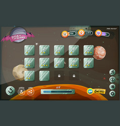 scifi game user interface design for tablet vector image