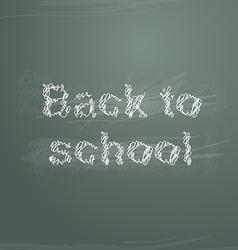 Sketch back to school on greenboard vector