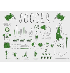 Soccerfootball inforgrapic vector