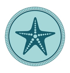 Star fish emblem isolated vector