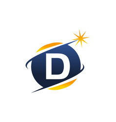 Swoosh logo letter d vector