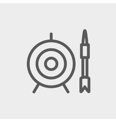 Target and arrow thin line icon vector