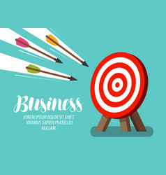 Target and flying arrows business concept vector