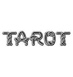 tarot logo lettering celtic font norse medieval vector image