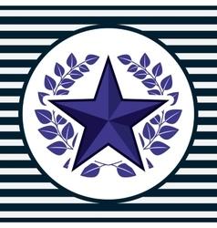 usa emblem design vector image