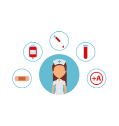 Woman nurse icon vector