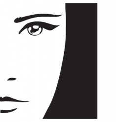 woman's portrait vector image