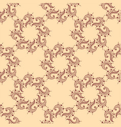henna tattoo seamless pattern mehndi flower doodle vector image vector image