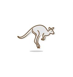 kangaroo jump vector image