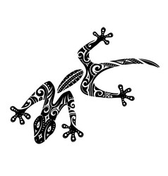 maori style gecko tattoo vector image vector image