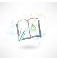 Notebook eco grunge icon vector image
