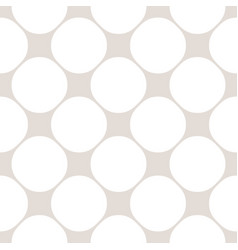 seamless pattern with big circles white and beige vector image vector image