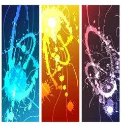 Splashes Set vector image