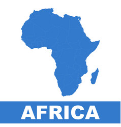 africa map icon flat africa sign symbol with vector image vector image