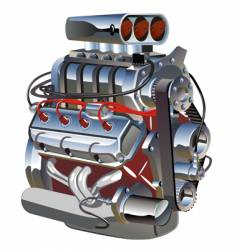 cartoon turbo engine vector image