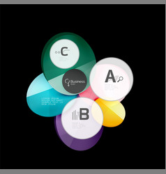 glossy glass circle banner design template vector image vector image