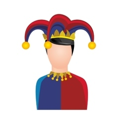 harlequin character icon image vector image vector image