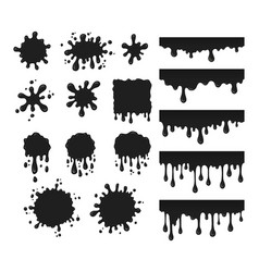 black drops set vector image vector image
