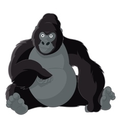 Cartoon smiling gorilla vector image