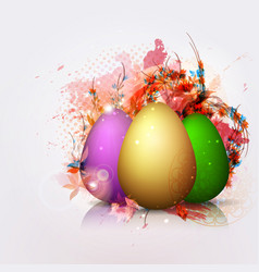 easter greeting card easter egg abstraction vector image vector image