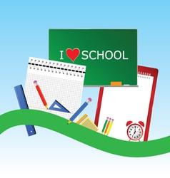 i love school icon color vector image vector image