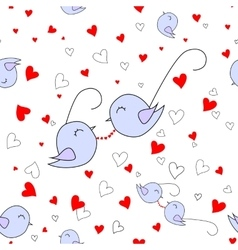 Loved nestling - glasses with red hearths vector image