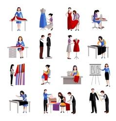 Dressmaker Icons Set vector image vector image