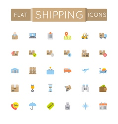 Flat Shipping Icons vector image vector image