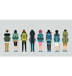 Hiking bag vector image vector image