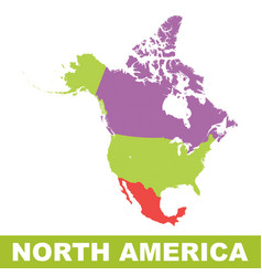 north america map icon flat north america sign vector image vector image
