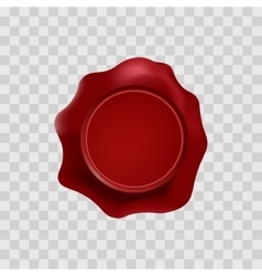 red wax stamp with blank space for text on the vector image
