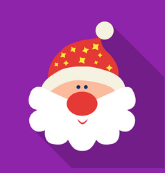 santa claus icon in flat style isolated on white vector image vector image
