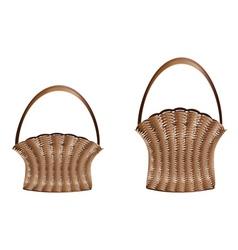 Weaved baskets vector image vector image