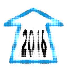 2016 ahead arrow halftone icon vector