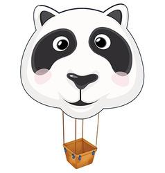 A big panda balloon vector