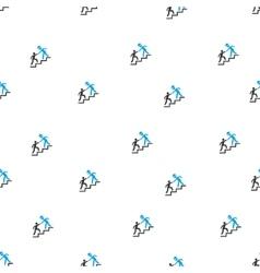 Alien Training Help Flat Seamless Pattern vector