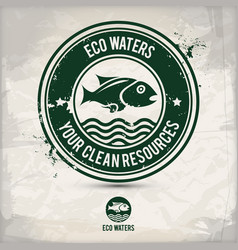 alternative eco waters stamp vector image