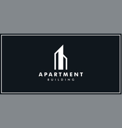 apartment logo design template vector image