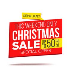 Biggest christmas sale banner sale vector