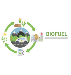 Biofuel life cycle vector