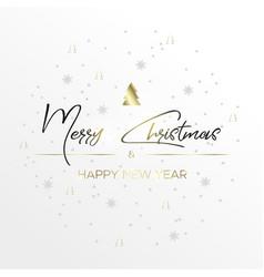 black inscription christmas and magic light vector image