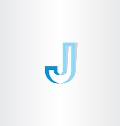 Blue stylized letter j logo vector