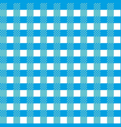 blue tablecloth pattern vector image