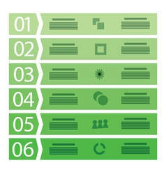 Business template with six steps vector image
